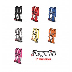 DragonFire H-Style 4-Point 3 Inch Harness