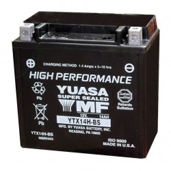 Yuasa YTX14H-BS Maintenance Free Battery