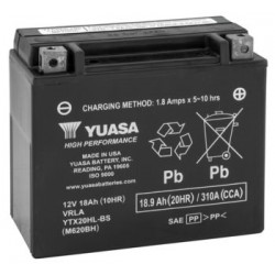 Yuasa YTX20HL-BS Maintenance Free Battery