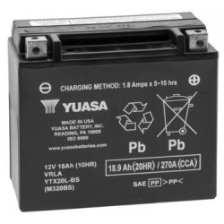 Yuasa YTX20L-BS Maintenance Free Battery