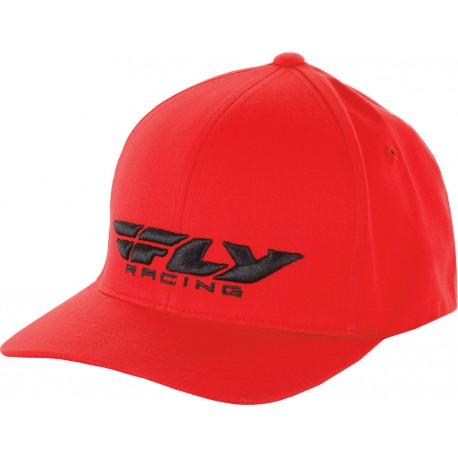 FLY RACING PODIUM HAT RED YOUTH