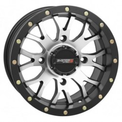 System 3 ST-3 Wheels 20x6.5 4/137 4+2.5 Machined Black