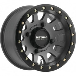 Method 401 Beadlock Wheels 15x7 4+3 4/156 Titanium/Matte Black