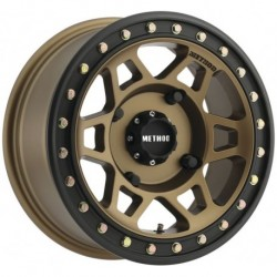 Method 405 Beadlock Wheels 15x7 5+2 4/136 Bronze/Matte Black