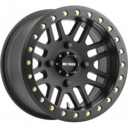 Method 406 Beadlock Wheels 15x8 4+4 4/136 Matte Black